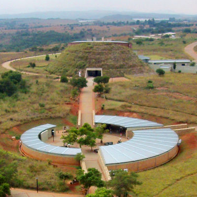 Aerial view of The Cradle of Humankind