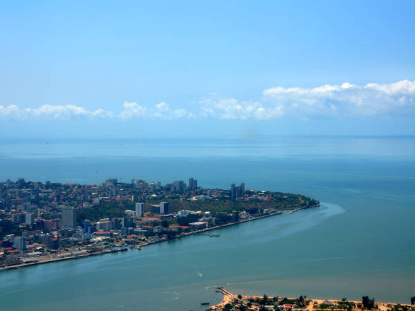 aerial view of maputo mozambiqe