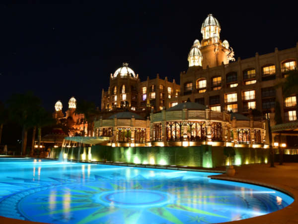 sun city at night